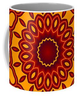 Teardrop Fractal Mandala Coffee Mug