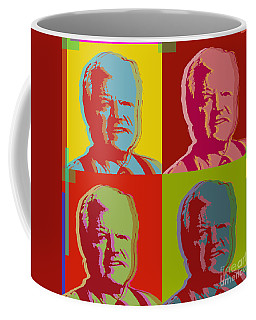 Coffee Mug featuring the digital art Ted Kennedy by Jean luc Comperat