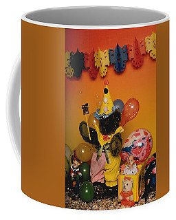 Teddy Bear Celebrates, Birthday Teddy Bear Coffee Mug