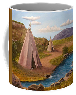 Teepees On The Plains Coffee Mug