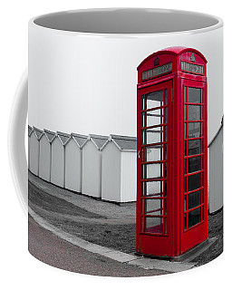 Telephone Box By The Sea I Coffee Mug