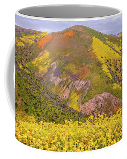 Coffee Mug featuring the photograph Temblor Range Color by Marc Crumpler