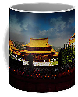 Coffee Mug featuring the photograph Temple Candles by Joseph Hollingsworth