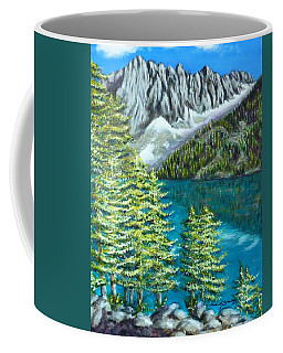 Coffee Mug featuring the painting Temple Crag by Amelie Simmons