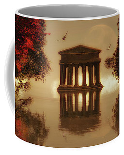 Temple In A Lake Coffee Mug