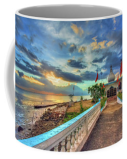 Temple In The Sea Coffee Mug