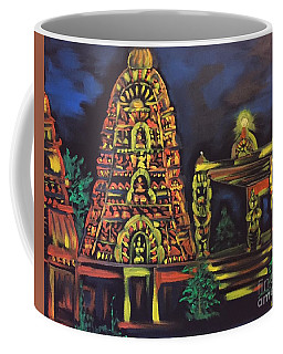 Temple Lights In The Night Coffee Mug by Brindha Naveen