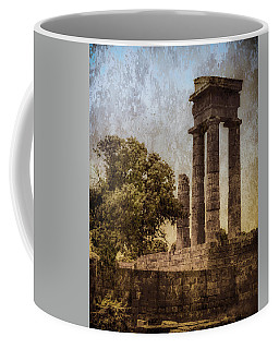 Coffee Mug featuring the photograph Rhodes, Greece - Temple Of Apollo by Mark Forte