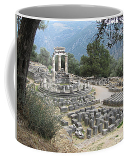 Temple Of Athena At Delphi Coffee Mug