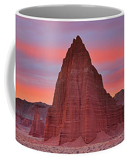Temple Of The Sun And Moon At Sunrise At Capitol Reef National Park Coffee Mug