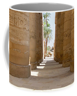 Coffee Mug featuring the photograph Temple Of Karnak by Silvia Bruno
