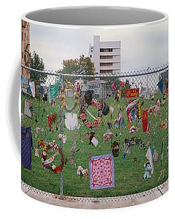 Temporary Memorial For 1995 Oklahoma Coffee Mug