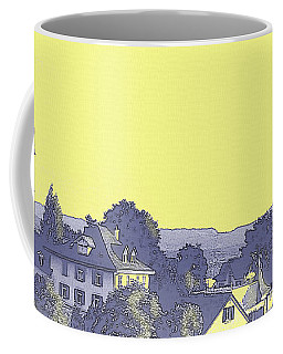 Coffee Mug featuring the digital art Ten After Eight On A Lavender Morning  by Shelli Fitzpatrick