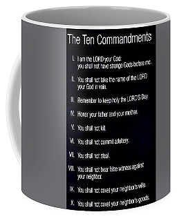 Ten Commandments Coffee Mug