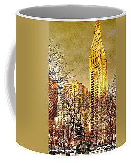 Coffee Mug featuring the photograph Ten Past Four At Madison Square Park by Chris Lord