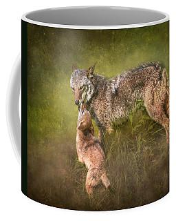 Coffee Mug featuring the digital art Tender Moment by Nicole Wilde