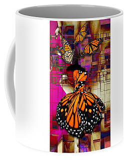 Coffee Mug featuring the mixed media Tenderly by Marvin Blaine