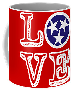 Tennessee Flag Love Coffee Mug