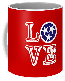 Coffee Mug featuring the digital art Tennessee Flag Love by Heather Applegate