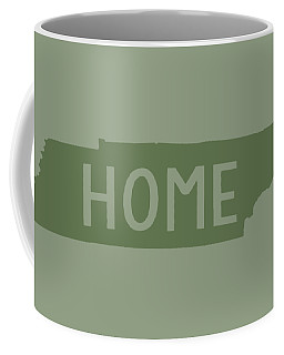 Coffee Mug featuring the digital art Tennessee Home Green by Heather Applegate