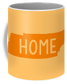 Coffee Mug featuring the digital art Tennessee Home Orange by Heather Applegate