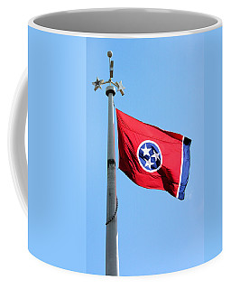 Coffee Mug featuring the photograph Tennessee State Flag by Kristin Elmquist