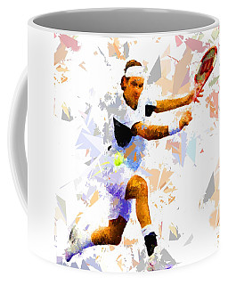 Coffee Mug featuring the painting Tennis 114 by Movie Poster Prints