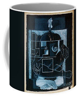 Coffee Mug featuring the painting Tense Leisure by Fei A