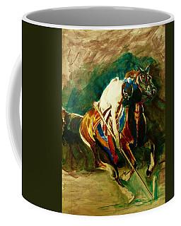 Tent Pegging Sport Coffee Mug by Khalid Saeed