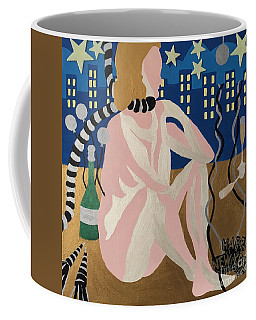 Tenth New Years Eve Coffee Mug by Erika Chamberlin
