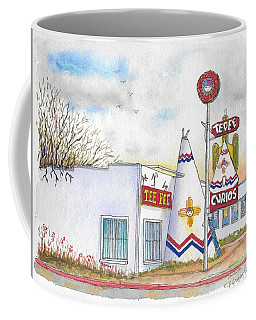 Tepee Curios In Tucumcari, New Mexico Coffee Mug