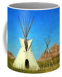 Tepee In Badlands Coffee Mug