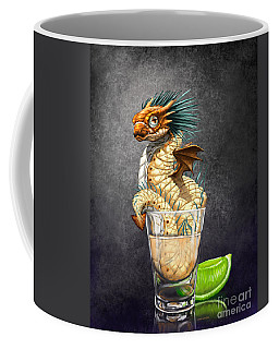Coffee Mug featuring the digital art Tequila Wyrm by Stanley Morrison