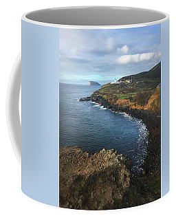 Terceira Island Coast With Ilheus De Cabras And Ponta Das Contendas Lighthouse  Coffee Mug
