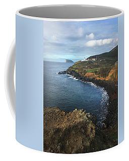 Terceira Island Coast With Ilheus De Cabras And Ponta Das Contendas Lighthouse  Coffee Mug by Kelly Hazel