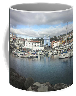 Coffee Mug featuring the photograph Terceira Port And Angra Do Heroismo by Kelly Hazel