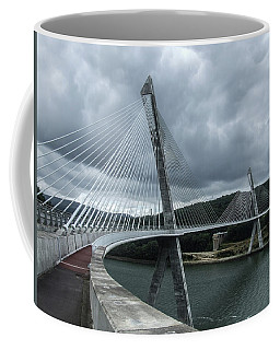 Terenez Bridge I Coffee Mug by Helen Northcott