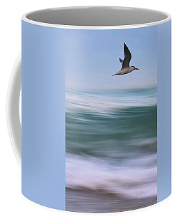 Coffee Mug featuring the photograph Tern Flight Vert by Laura Fasulo
