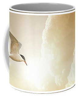 Tern In Flight, Spiritual Light Of Dusk Coffee Mug