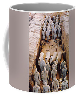 Coffee Mug featuring the photograph Terracotta Army by Heiko Koehrer-Wagner