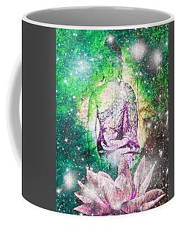 Coffee Mug featuring the digital art Terrestrial Buddha by Absinthe Art By Michelle LeAnn Scott