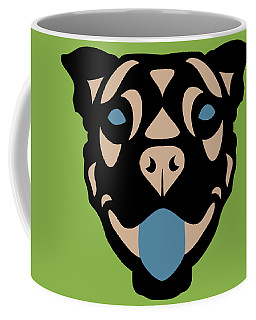 Terrier Terry - Dog Design - Greenery, Hazelnut, Niagara Blue Coffee Mug