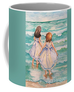 Coffee Mug featuring the painting Testing The Waters by Rosemary Aubut