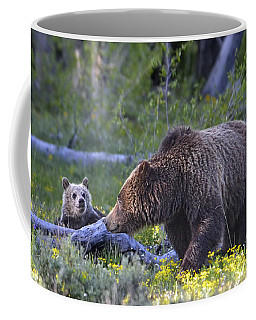 Teton Grizzly Mama And Cub Coffee Mug