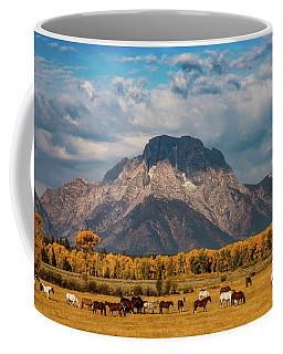 Coffee Mug featuring the photograph Teton Horse Ranch by Darren White