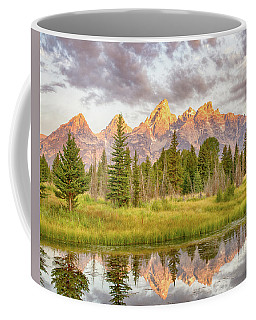 Coffee Mug featuring the photograph Teton Morning by Mary Hone