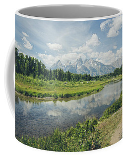 Coffee Mug featuring the photograph Teton Reflections by Margaret Pitcher