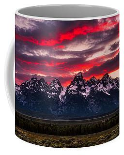 Teton Sunset Coffee Mug by Darren White