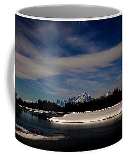 Tetons At Moonlight Coffee Mug