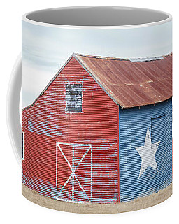 Coffee Mug featuring the photograph Texas Barn With Goats And Ram On The Side by PorqueNo Studios